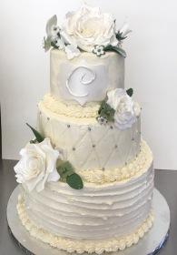 """Bree"" Wedding Cake"