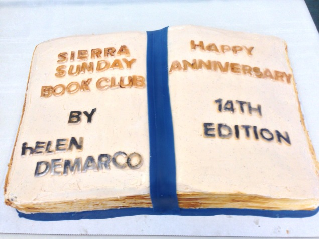 Book Club Anniversary Cake