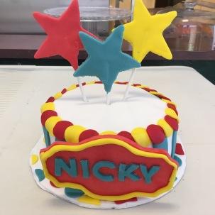 Circus Star Smash Cake