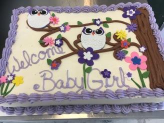 Owl Shower Cake