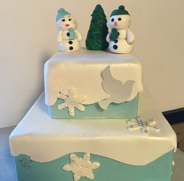 Snowman Holiday Cake