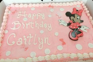 Allergy Friendly Minnie Cake