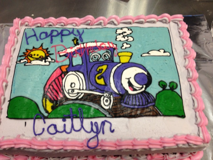 Train Birthday Cake, allergy friendly