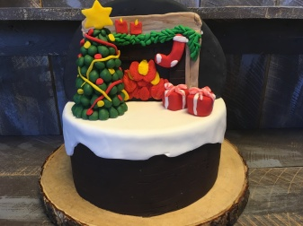 """9"""" round, with fondant decoration, 10-15 servings...$75"""