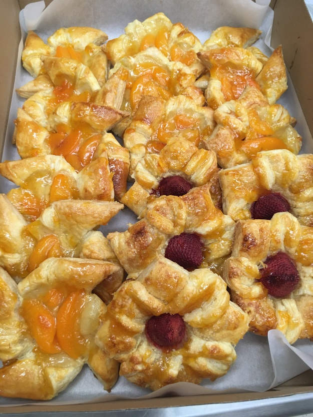 Assorted Fruit danish...$30 dozen (min 1 dozen)